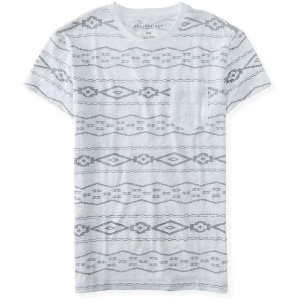 Aeropostale Tribal Pocket Tee (12 CAD) ❤ liked on Polyvore featuring men's fashion, men's clothing, men's shirts, men's t-shirts, bleach, mens striped shirt, mens tribal shirts, mens cotton t shirts, mens cotton shirts and aeropostale mens shirts