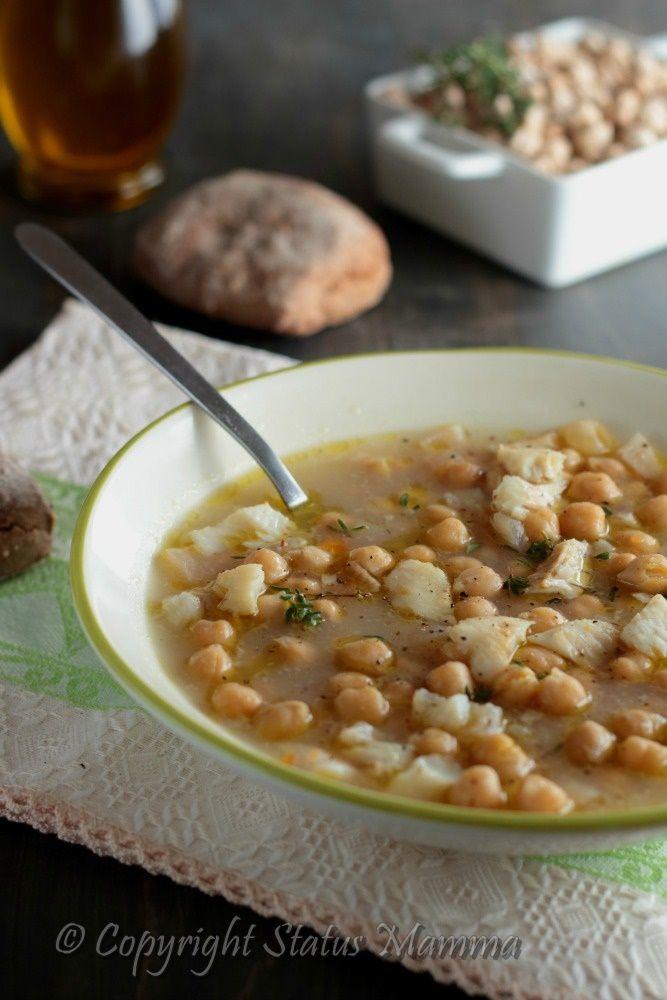 zuppa di ceci ricetta secondo confortante semplice facile con verdure pesce Statusmamma gialloblog Giallozzafferano
