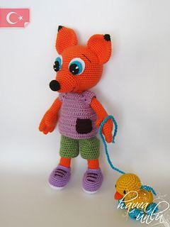 Crochet-Fox Amigurumi (crochet, amigurumi) $8.00