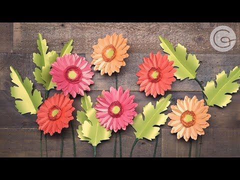 Video Tutorial New Gerbera Daisy Frosted Paper Flower Kit Paper