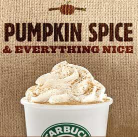 Starbucks Pumpkin Spice lattes.... mmmmm