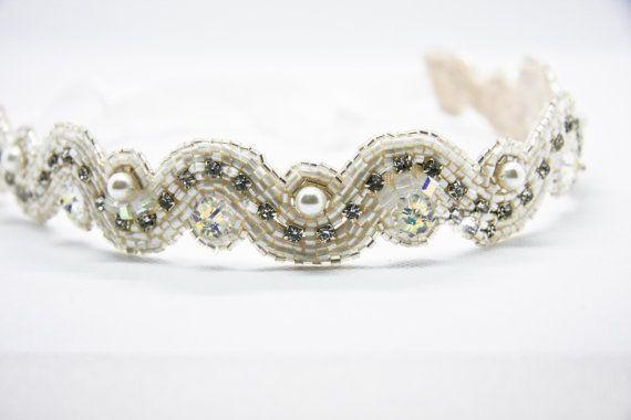 Pearl and Swarovski crystal Bridal belt by TiffyDesigns $95 http://www.tiffydesigns.com #bridal #bridal belt #bridal sash #silk belt #crystal belt #crystal sash #bridal accessory #pearl belt