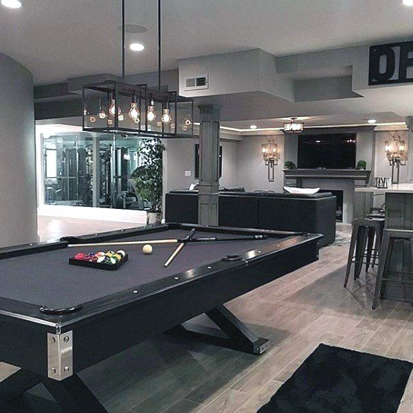 60 basement man cave design ideas for men manly home on incredible man cave basement decorating ideas id=16264