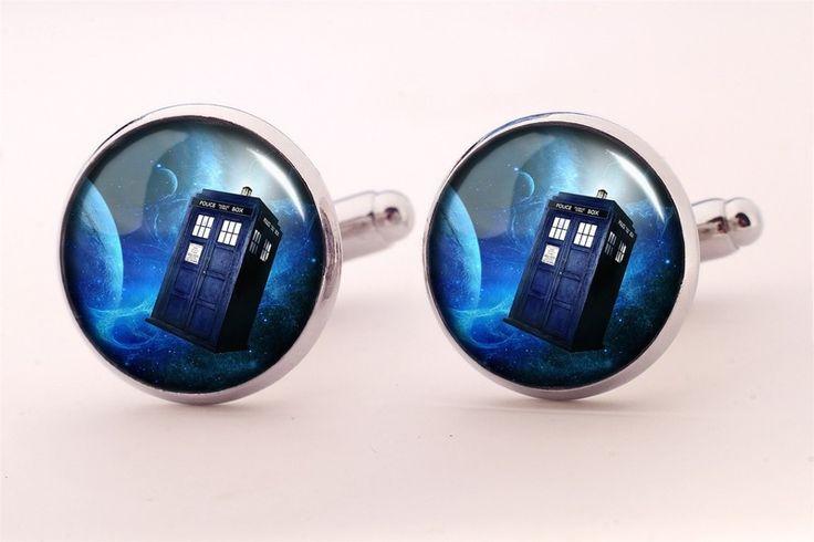 TARDIS Cuff links, 338CS from EgginEgg by DaWanda.com