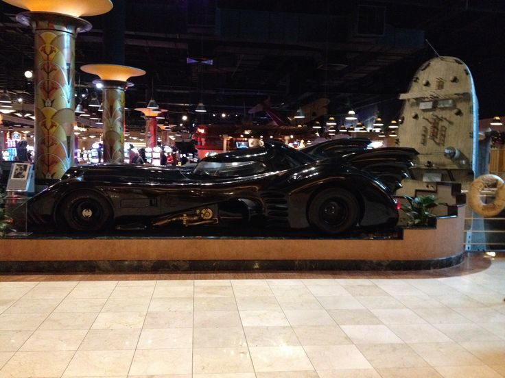 Bat mobile on display at the Hollywood Hotel & Casino in Tunica, MS