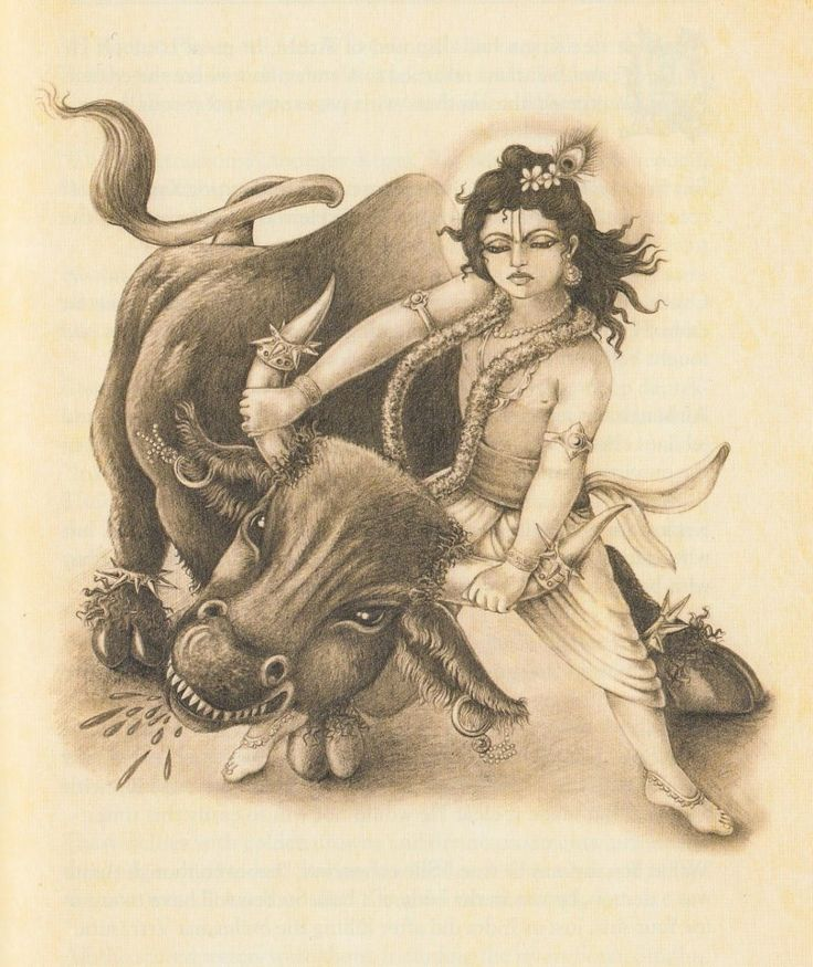 Krishna kills demon