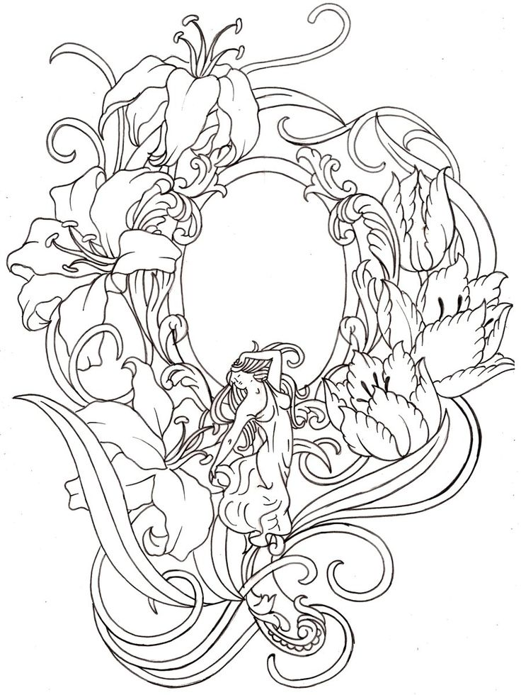 Art nouveau hand mirror tattoo by metacharis on deviantart tattoos and flash pinterest - Art nouveau art deco ...