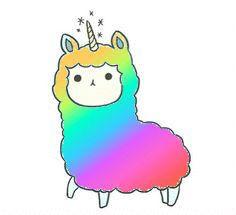 Rainbow magical UniLlama!