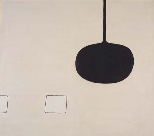 White Shapes Entering, 1974 by William Scott