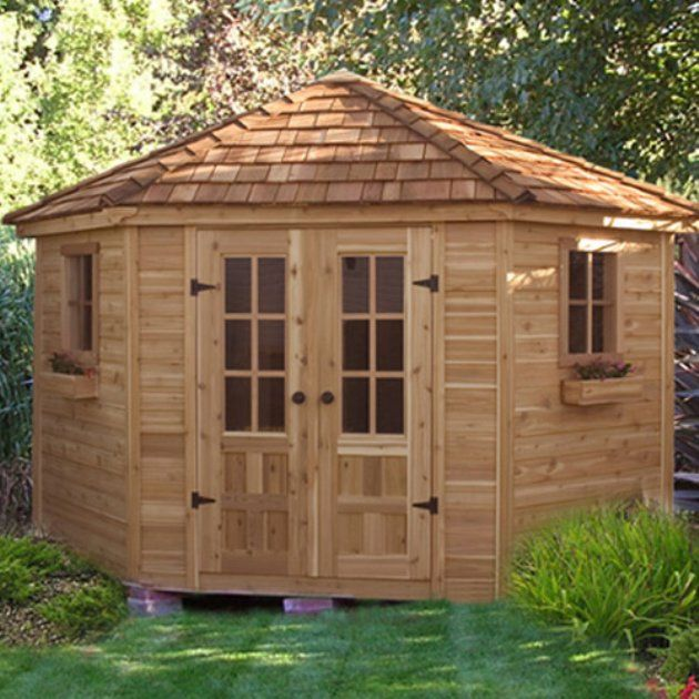9 x 9 penthouse garden shed quality craftsmanship design as a pool house or deluxe garden shed the penthouse will add beauty and interest to any garden