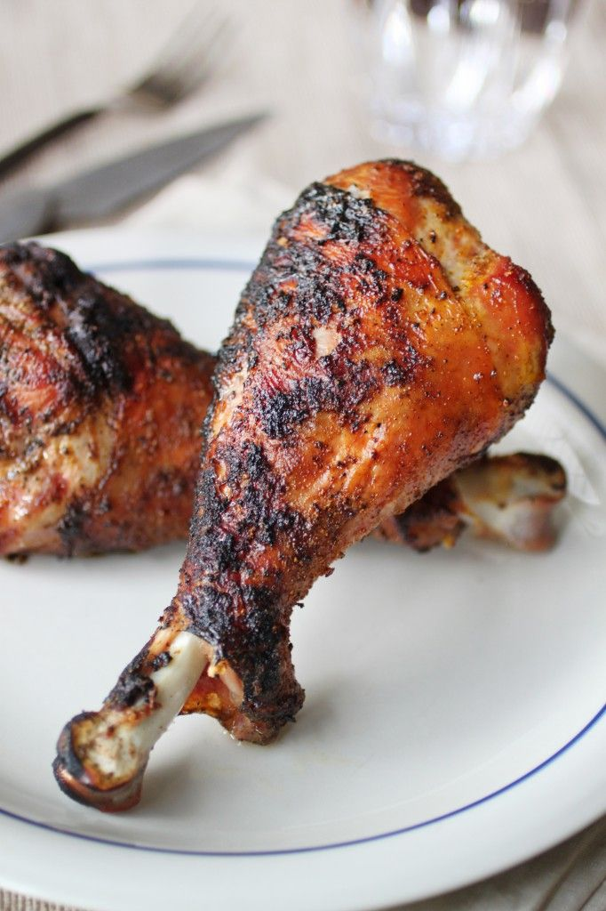 Grilled Turkey Drumsticks - The Food Lovers Kitchen