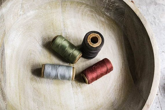 Vintage spools of cotton  thread in classic by SunchowdersVintage