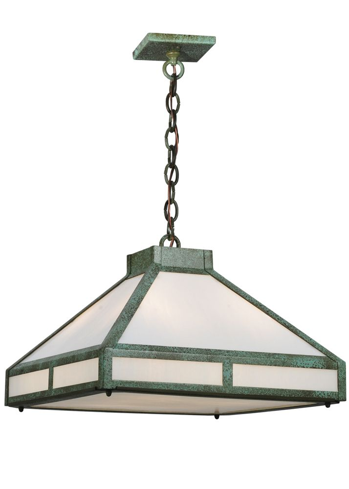 asian pendant lighting. Mission Contemporary 18 Inch Square T Pendant By Meyda Lighting - 114840 Asian O