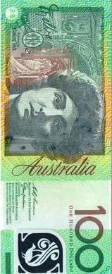 Dame Nellie Melba on the Australian $100 banknote.