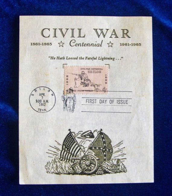 an overview of the battle of shiloh in 1962 Us #1179 4¢ shiloh civil war centennial series issue date: april 7, 1962 city:  shiloh, tn quantity: 124865000 printed b.