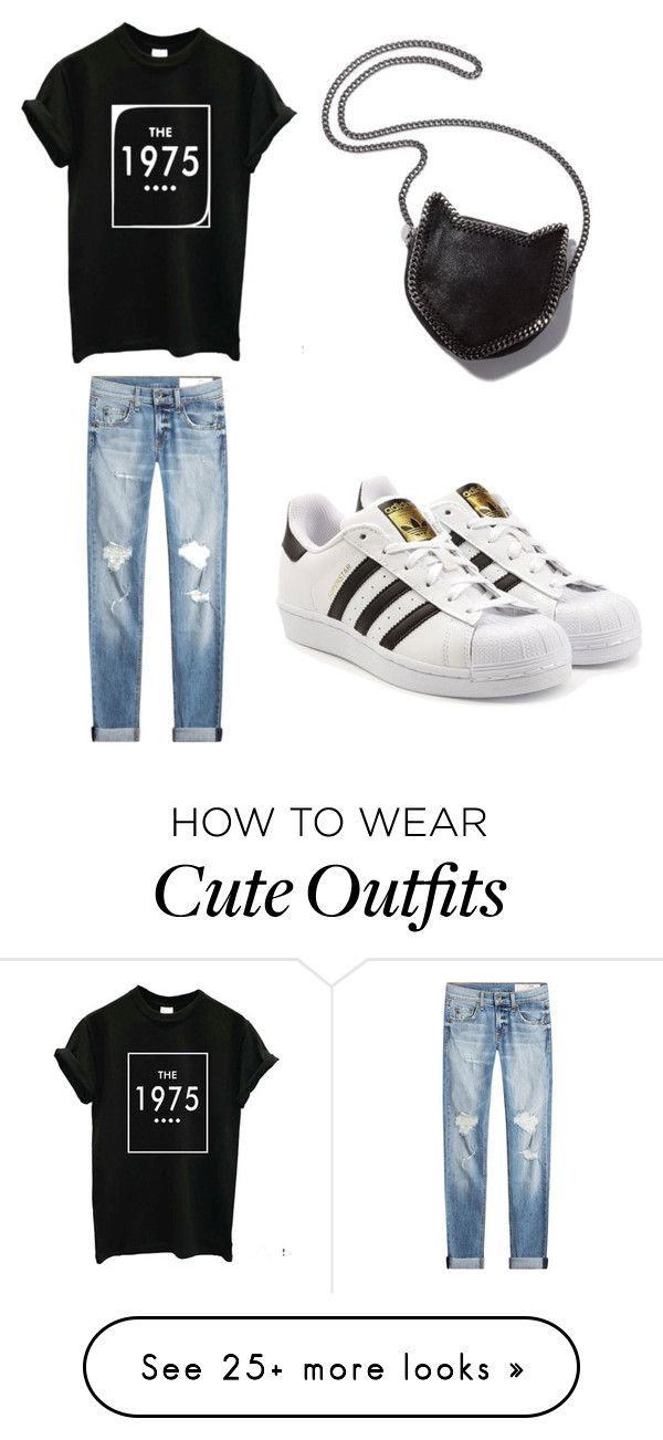 """cute outfit for mall"" by hanaa0402 on Polyvore featuring rag & bone, STELLA McCARTNEY and adidas Originals"