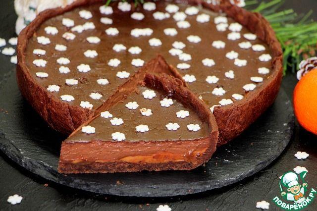 """Мега-шоколадный тарт """"С Новым Годом"""" ингредиенты"""