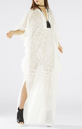 Dameka Ruffled Long Kaftan Dress