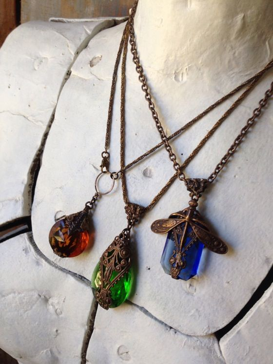 Image of 1ofmykind Jeweled-Tone Pendants