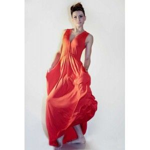Agi Jensen - red maxi dress