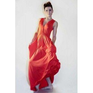 Agi Jensen - czerwona sukienka