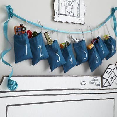 Hanukkah Countdown Goodie Bags... the perfect response to stockings.