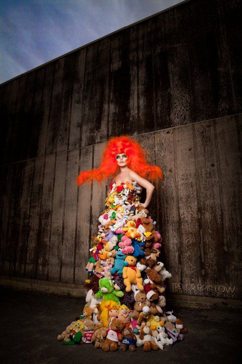 Look at her! What an AMAZING One of a Kind Dress by PoshFairytaleCouture…