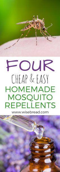 4 Cheap & Easy Homemade Mosquito Repellants | Natural Remedies | #mosquitorepellant #naturalremedies