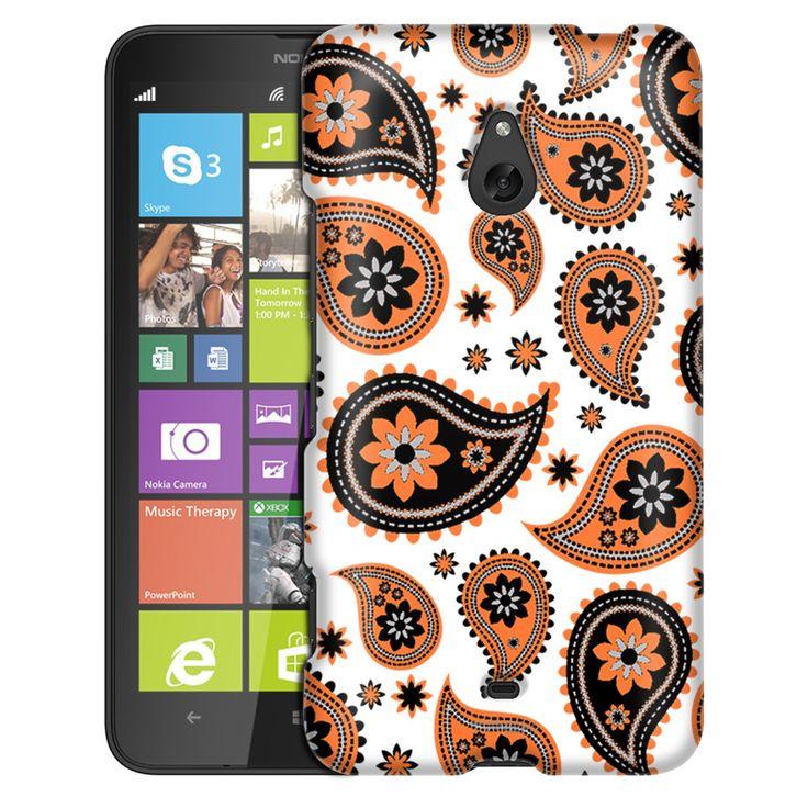 Nokia Lumia 1320 Paisleys Cute Orange on White Slim Case