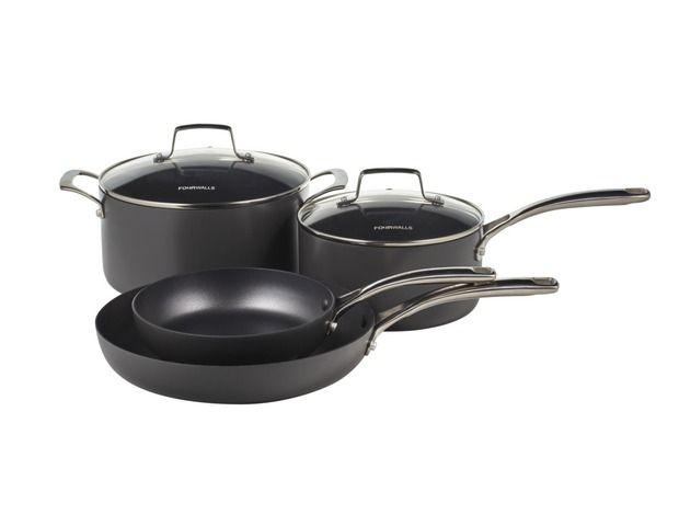 Fourwalls Chef Gourmet Cookware Set Of 4 Buy Online At Stevens