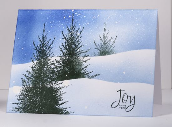 Three trees in snow tutorial. Awesome results every time! A very rewarding tutorial! Thanks to Heather Telford an extremely gifted instructor / artist.