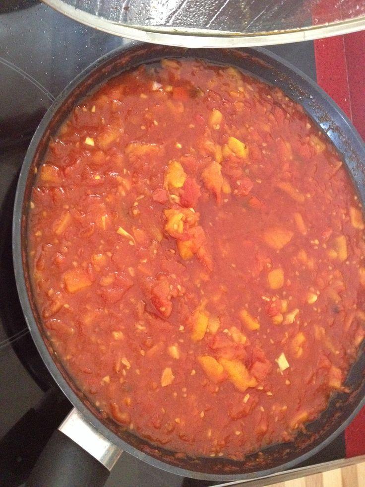 Home made matbuha- salad from tomatoes