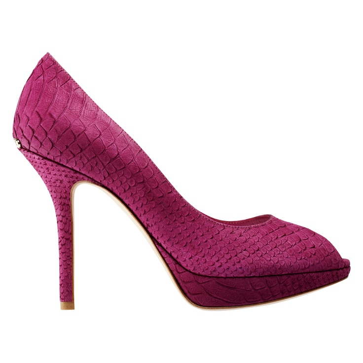 Dior Autumn- Winter 2012 Shoes collection: Carmine python-style leather, 10.5 cm pump. Discover more on www.dior.com