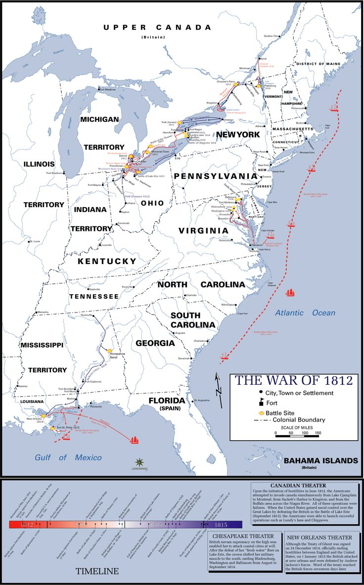 Best War Of Images On Pinterest War Of American - Map of us during war of 1812