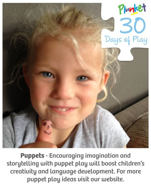 Encourage imagination and storytelling with puppet in today's #30daysofplay!