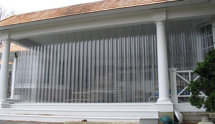 Porch With Vusafe Storm Panel Hurricane Shutters