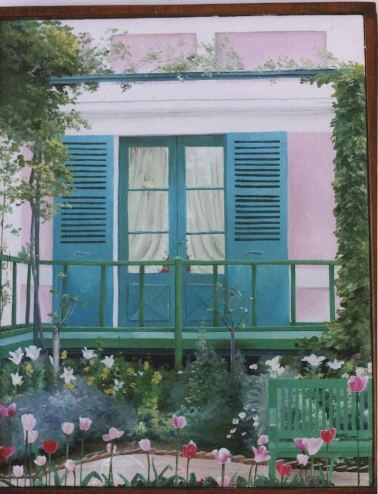 Monet home. Oil on canvas