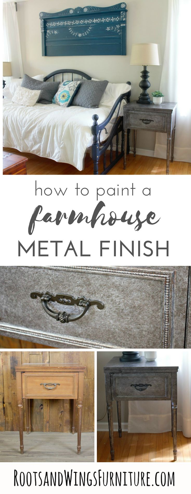best painted furniture ideas images on pinterest  furniture  - now you can add your own visual interest with a showstopping metallicfurniture piece