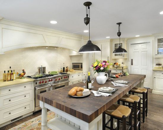 Butcher Block Dining Table Design, Pictures, Remodel, Decor and Ideas