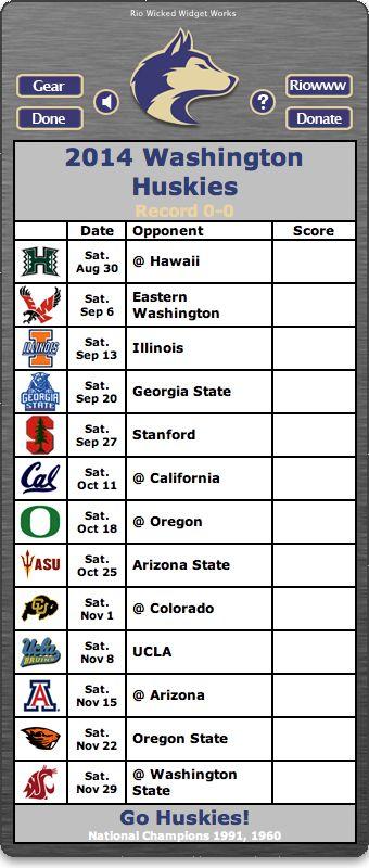 BACK OF WIDGET - Free 2014 Washington Huskies Football Schedule Widget for Mac OS X - Go Huskies!  National Champions 1991, 1960  http://riowww.com/teamPages/Washington_Huskies.htm