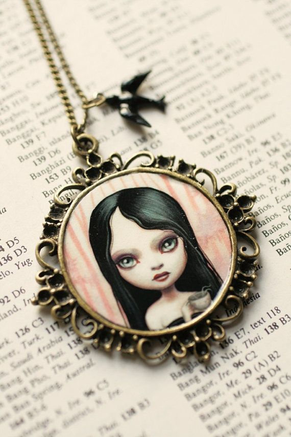 Tentacle Tea Time Jude Cameo Necklace By Mab Graves