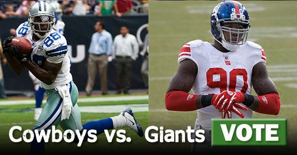 The Dallas Cowboys take on the New York Giants in their first game of the season. Which team will win? VOTE: http://www.compare.com/compare-and-share/cowboys-vs-giants.aspx?utm_source=pinterest&utm_medium=socialmedia&utm_campaign=cowboysgiants #CompareAndShare