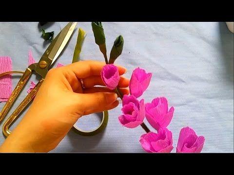 [How to make] Gladiolus paper flower tutorial - Hướng dẫn làm hoa lay ơn...