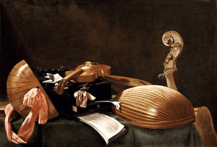 Evaristo Baschenis - Natura morta di strumenti musicali, 1630