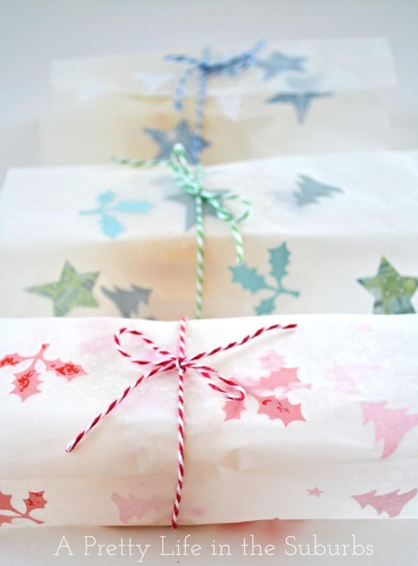 DIY - Christmas Wax Paper Wrapping Tutorial - {For Baked Goodies. Makes a great gift wrapped up so nice}