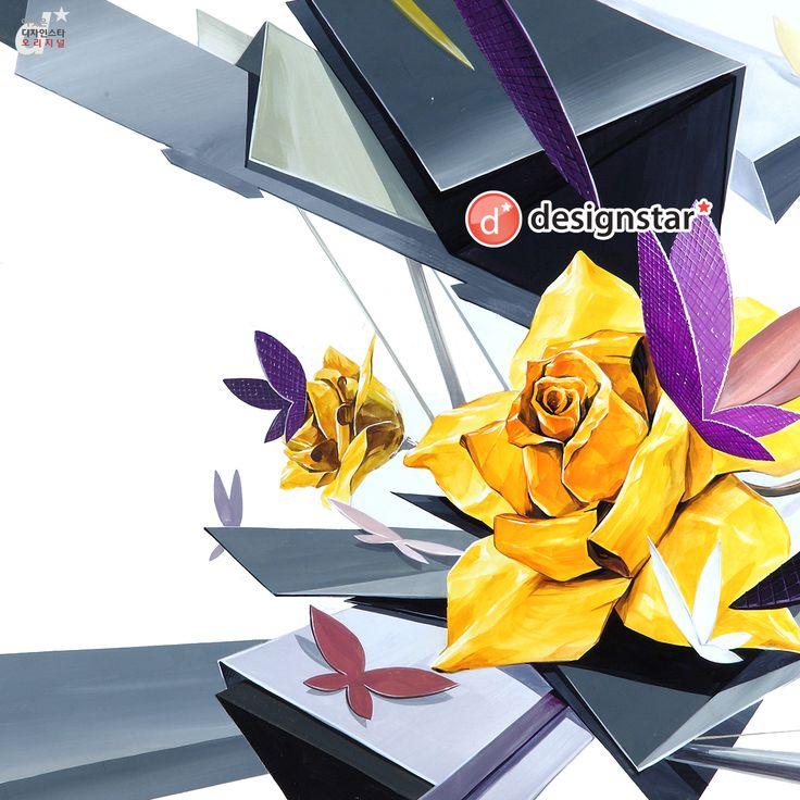 장미 나비