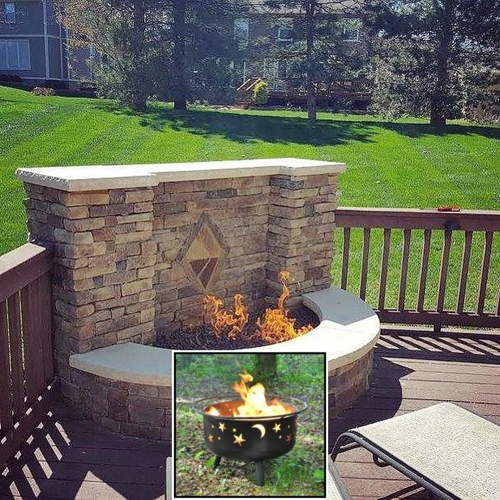 Portable Fire Pit Easy To Clean And Fire Pit Ideas Natural Gas In 2020 Deck Fire Pit Outdoor Fire Pit Outdoor Fire