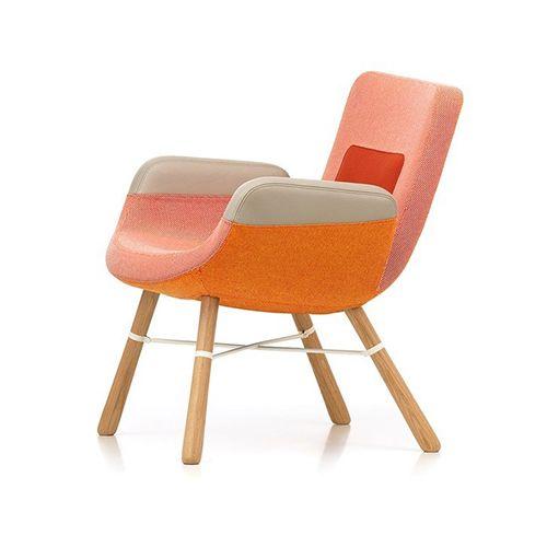 East River er en karakteristisk designstol, der kombinerer forskellige materialer som træ, metal, læder og stof. Få liv i loungeområdet. Se mere her.