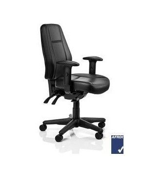 The Mid Back Aura Chair comes complete with independently adjustable tilting back that can be locked in any position or free floating and Independently adjustable tilting seat that can be locked in any position or free floating and height and Width Adjustable arms. Available at seated.com.au