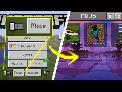 Como Instalar Mods Directo Al Minecraft PE 1 6! - Mods Sin